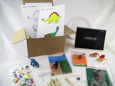 Sqooll.com Dinosaur Toddler Activity Pack