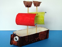 Yo Ho Let's Go! DIY pirate ship craft activity