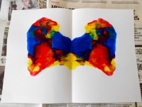 Blot art activity for kids and toddlers