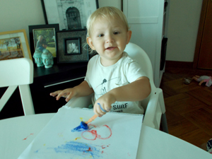Toddler art paintcicles