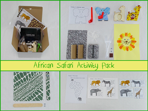 Sqooll.com African Safari Kid Activity Pack