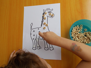 Sqooll.com African Safari Toddler Activity Pack cheerios giraffe game