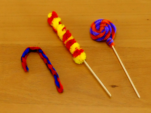 Kids My Sweet Shop Activity Pack pipe cleaner lollipops