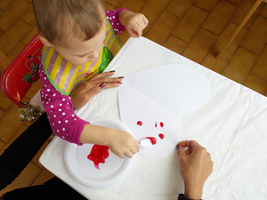Toddler art blot painting