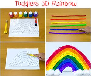 Toddlers-3D-Rainbow-art