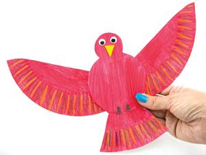 Make a bird from a paper plate
