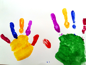 Step 2: Paint your child's hand
